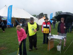 Putting in the rain again at the Treacle Fair