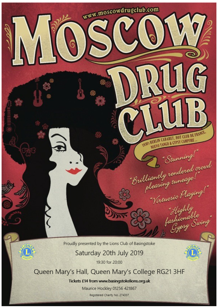 Moscow Drug Club Poster July 2019