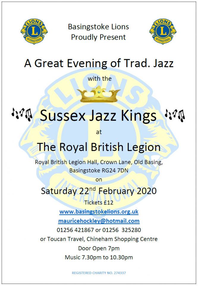 Sussex Jazz Kings Feburary 2020